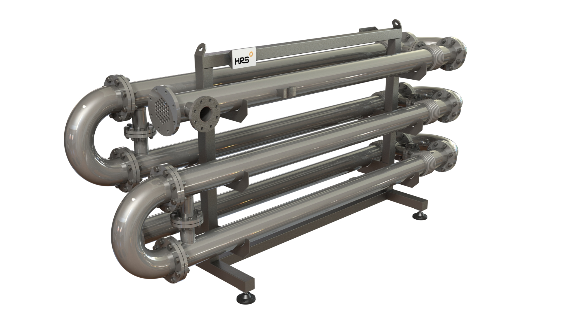 Industrial Heat Exchangers : Industrial multi tube heat exchangers hrs k series