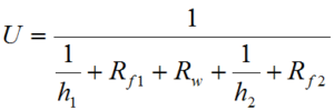 HRS Overall Heat Transfer Coefficient Equation