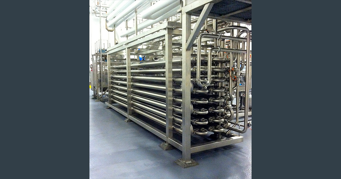 HRS DTI SEries Double Tube Heat Exchanger - Pasteurisation System - Strawberry Product