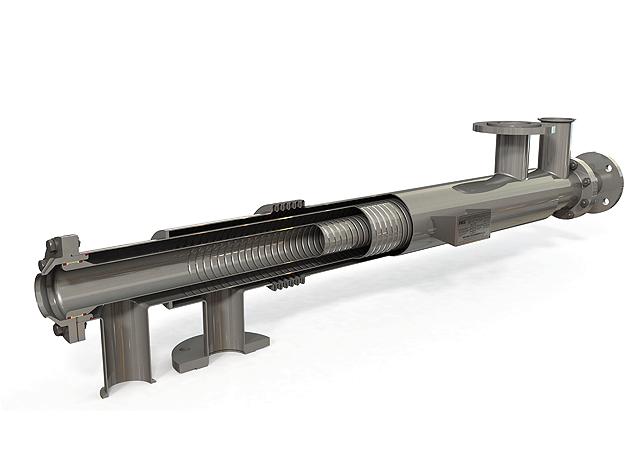 Figure 4: Cross section of an AS Series heat exchanger