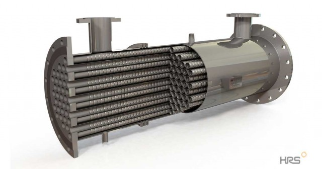 HRS G Series Gas Cooling Multi Tube Heat Exchanger